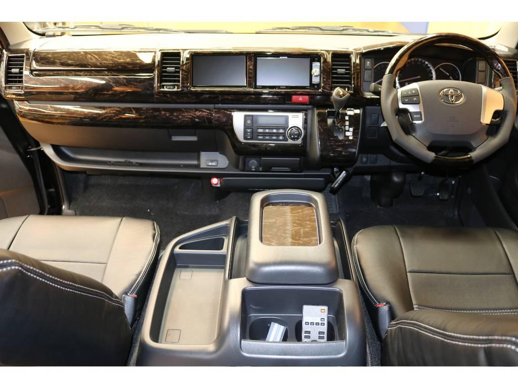 大変上質な空間となっております♪ | トヨタ ハイエース 2.7 GL ロング ミドルルーフ 4WD フレックスオリジナル内装架装Ver1