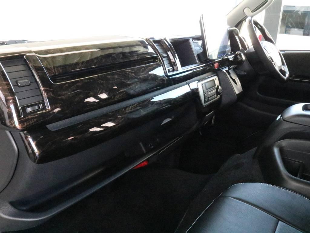 インパネまわりもオシャレに仕上がました!! | トヨタ ハイエース 2.7 GL ロング ミドルルーフ 4WD TSS付 ARRANGE R1