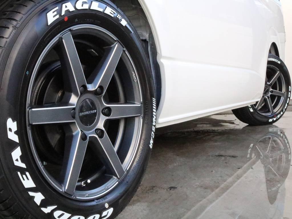 タイヤはグッドイヤーナスカーです!! | トヨタ ハイエース 2.7 GL ロング ミドルルーフ 4WD TSS付 ARRANGE R1