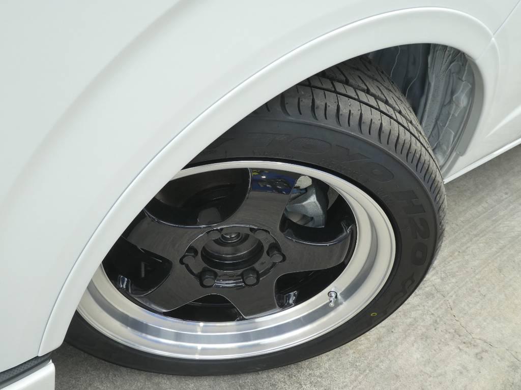 S1HC 18インチアルミ 貨物規格をクリアしているTOYO H20タイヤをセット!! | トヨタ ハイエースバン 2.8 スーパーGL ダークプライムⅡ ロングボディ ディーゼルターボ Ultimate Line