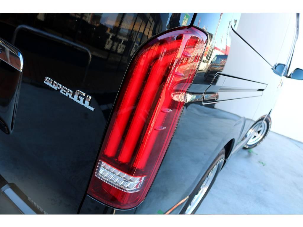 テールはレガンス製LEDテールをインストール!!   トヨタ ハイエースバン 2.8 スーパーGL ダークプライムⅡ ロングボディ ディーゼルターボ カスタムPKG