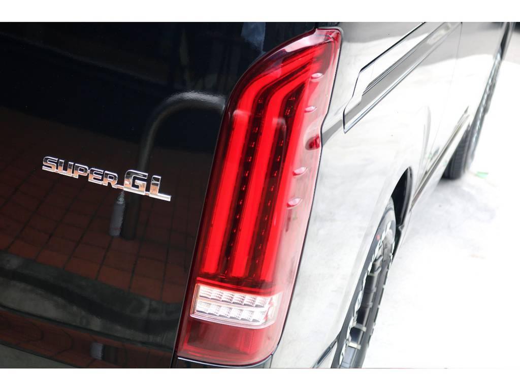 テールはレガンス製LEDテールをインストール!! | トヨタ ハイエースバン 2.8 スーパーGL ダークプライムⅡ ロングボディ ディーゼルターボ ナビパッケージ