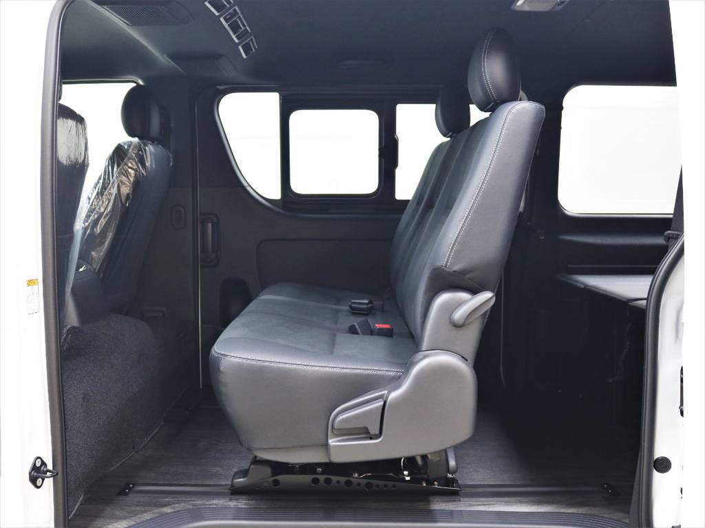 オプションのセカンドシートスライドを搭載! | トヨタ ハイエースバン 2.8 スーパーGL ダークプライムⅡ ロングボディ ディーゼルターボ 4WD FLEXアレンジFU-N OPスライド
