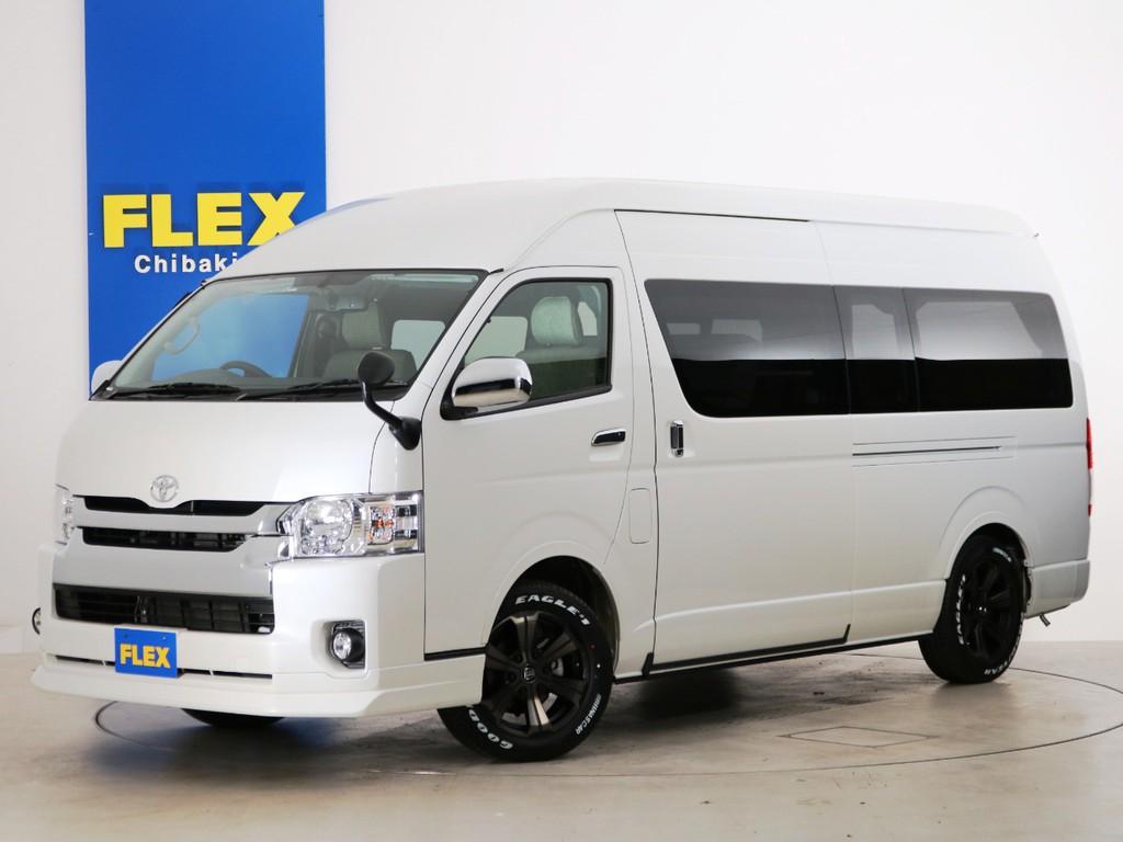 新車未登録 ハイエースバン DX スーパーロング ガソリン4WD FLEXキャンピングカー【SH-TYPE01】!
