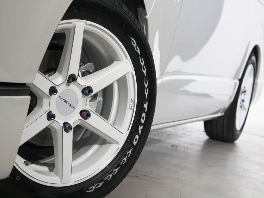 415コブラ SD-6 17インチアルミホイール♪チタンカラー鍛造ナット付き! | トヨタ ハイエースバン 2.8 スーパーGL 50TH アニバーサリー リミテッド ロングボディ ディーゼルターボ 床貼り ライトカスタムPKG