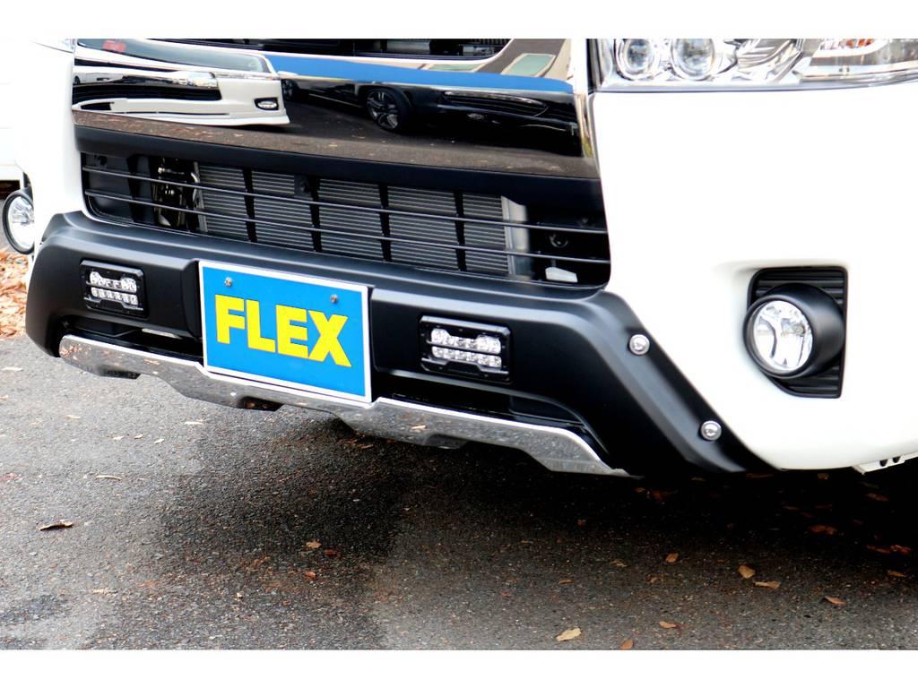 オフロード仕様のフロントスポイラー!   トヨタ ハイエースバン 2.8 スーパーGL ダークプライムⅡ ロングボディ ディーゼルターボ 4WD PS無オフロードスタイル