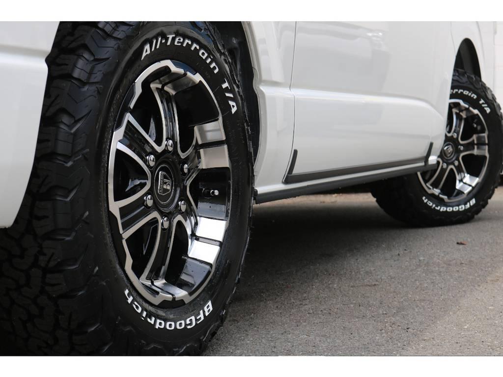 バルベロ16インチアルミ!GOODYEARタイヤ!   トヨタ ハイエースバン 2.8 スーパーGL ダークプライムⅡ ロングボディ ディーゼルターボ 4WD PS無オフロードスタイル