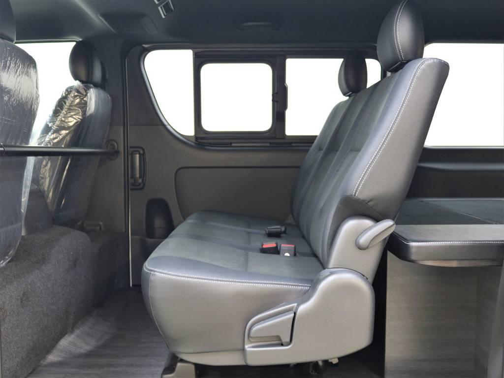 座り心地もいいですよ! | トヨタ ハイエースバン 2.8 スーパーGL ダークプライムⅡ ロングボディ ディーゼルターボ 4WD FLEX Ver4 バトルシップⅡ