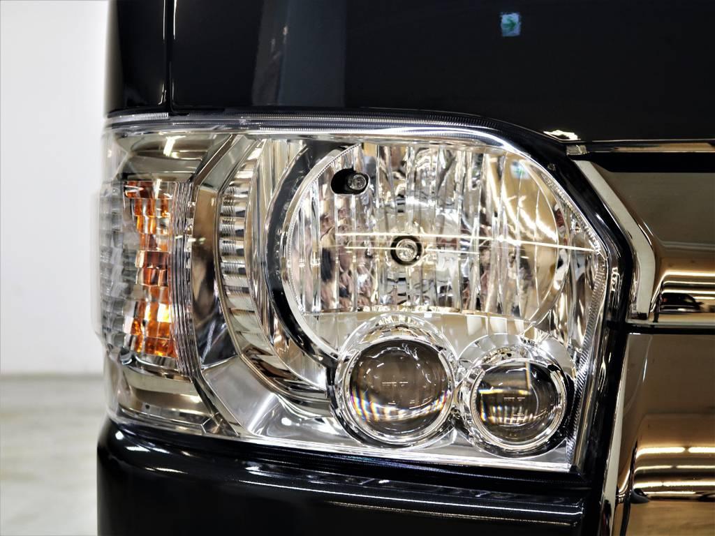 LEDヘッドランプは標準装備です! | トヨタ ハイエースバン 2.8 スーパーGL ダークプライムⅡ ロングボディ ディーゼルターボ 4WD FLEX Ver4 バトルシップⅡ