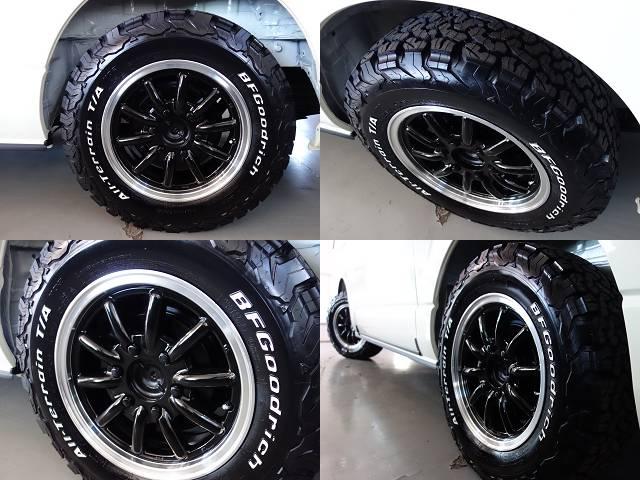 ESSEX製ENCB16インチアルミ装備!! | トヨタ ハイエース 2.7 GL ロング ミドルルーフ 4WD R1シートアレンジ施工