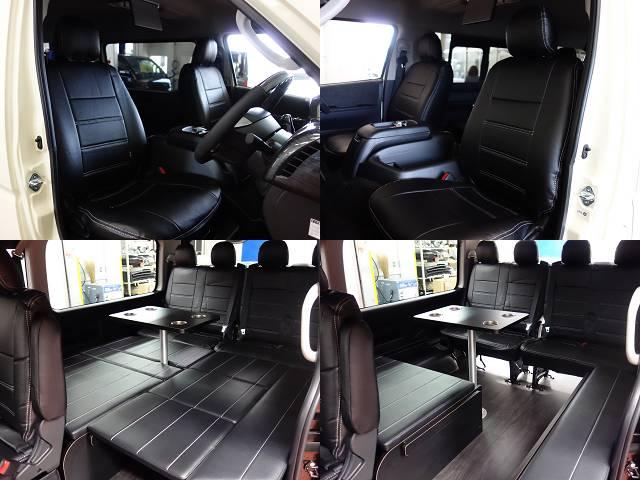 全席シートカバー装着済み!! | トヨタ ハイエース 2.7 GL ロング ミドルルーフ 4WD R1シートアレンジ施工