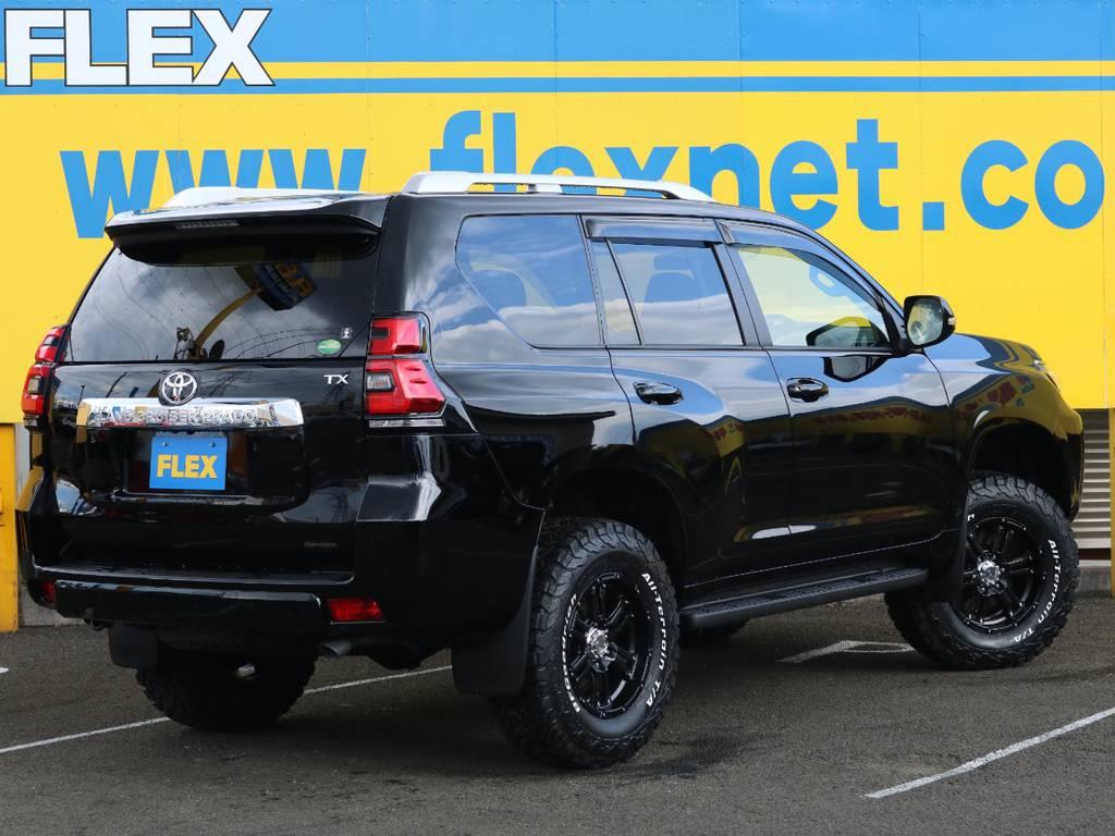 FLEXグループは「すべての人に愛車を」をコンセプトに車種別に全国展開中★ | トヨタ ランドクルーザープラド 2.8 TX ディーゼルターボ 4WD 7人 17AW&KO2 9ナビBカメ