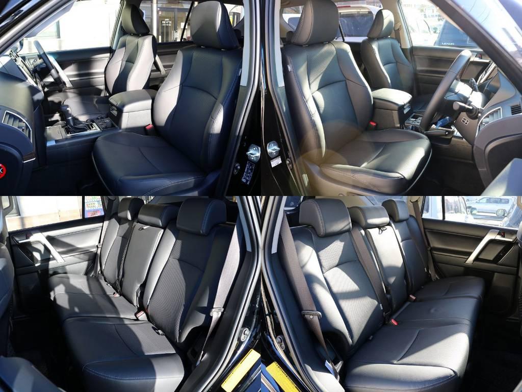 TX-Lパッケージ特有の高級感のある本革パワーシート!シート調節もボタンで出来る優れものです♪ | トヨタ ランドクルーザープラド 2.8 TX Lパッケージ ディーゼルターボ 4WD 5人 20AW&KO2 9ナビBカメ
