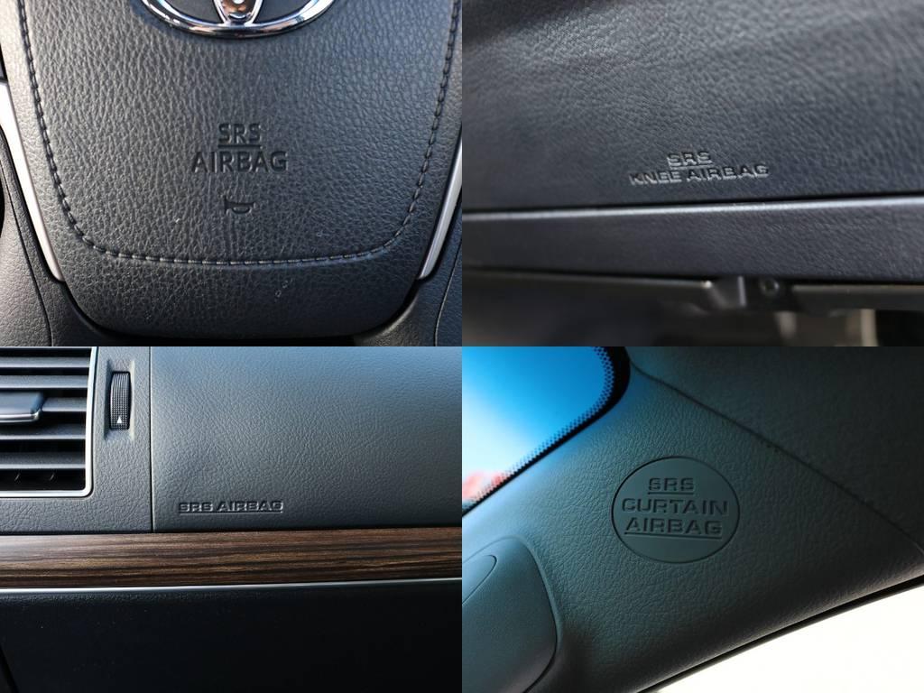 運転席・助手席・カーテンとエアバッグも完備!先進装備のTOYOTAセーフティセンスPとも合わせ、安全面でもおすすめの1台となっております♪ | トヨタ ランドクルーザープラド 2.8 TX Lパッケージ ディーゼルターボ 4WD 5人 20AW&KO2 9ナビBカメ