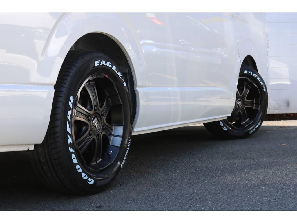 バルベロW-DEEPS17インチアルミホイール(FLEXオリジナルカラー)装着! | トヨタ ハイエース 2.7 GL ロング ミドルルーフ 4WD 4WDシートアレンジR1
