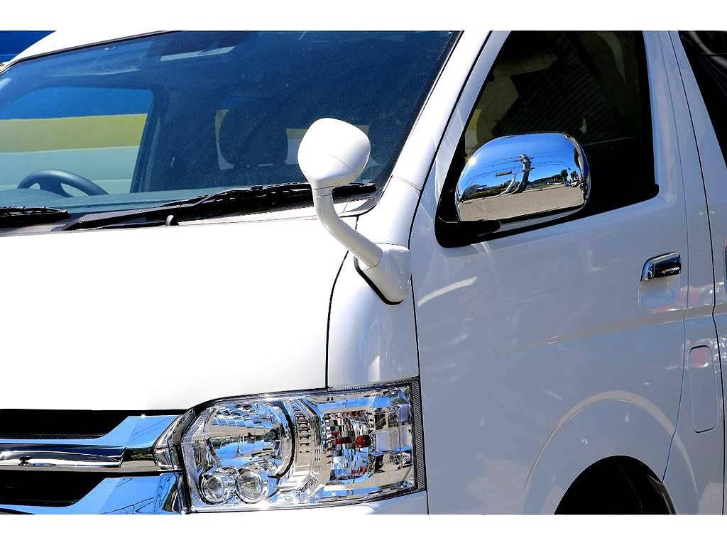 左フロントアンダーミラー同色化! | トヨタ ハイエース 2.7 GL ロング ミドルルーフ 4WD 4WDシートアレンジR1