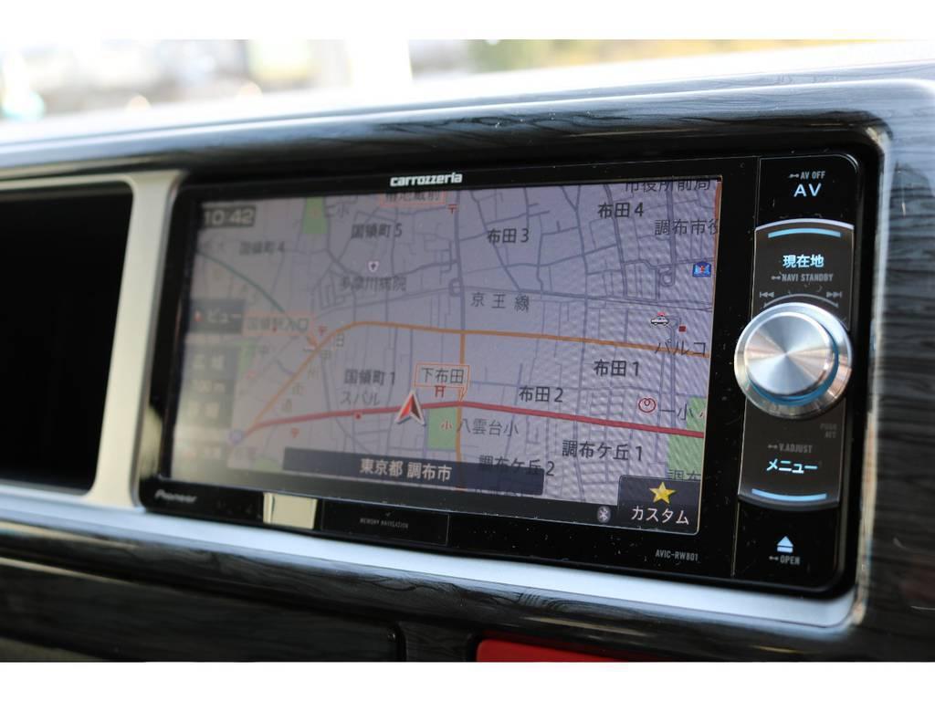 パイオニア/カロッツェリア楽ナビが標準装備! | トヨタ ハイエース 2.7 GL ロング ミドルルーフ 4WD 4WDシートアレンジR1