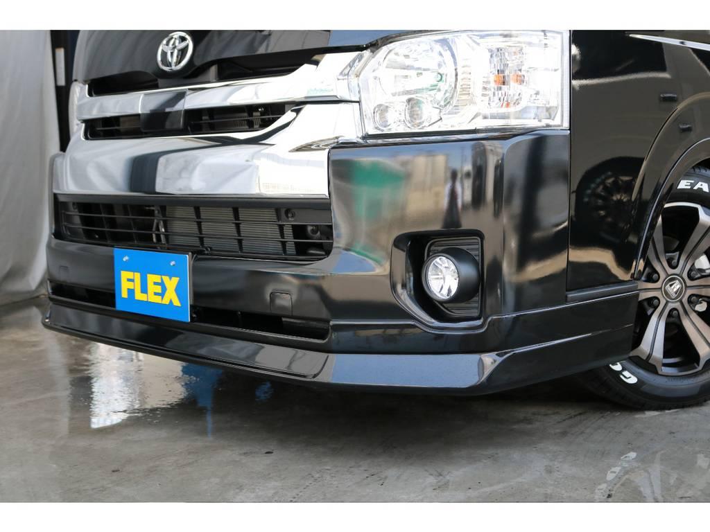 FLEXオリジナルフロントリップスポイラー装着済です!より車高が低く見えますよ!