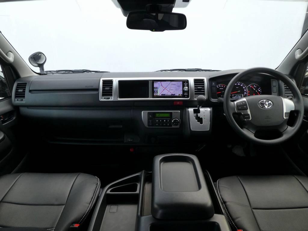 ワイドのキャビンは広々ですよ!! | トヨタ ハイエース 2.7 GL ロング ミドルルーフ TSS付 ツインナビカスタム