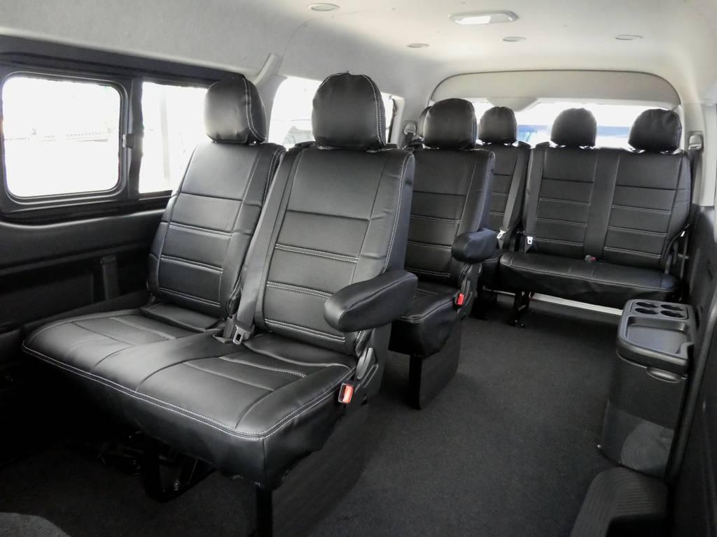ウォークスルーで乗り降りラクラク!! | トヨタ ハイエース 2.7 GL ロング ミドルルーフ TSS付 ツインナビカスタム