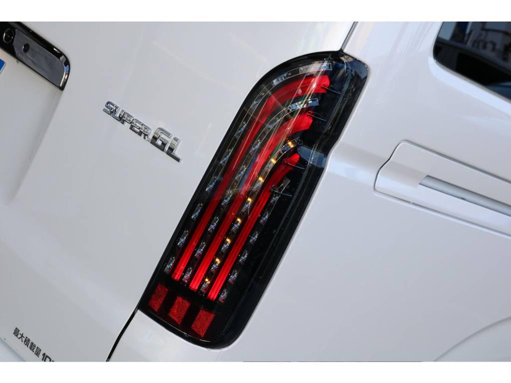 オリジナルキラメキLEDテール!! | トヨタ ハイエースバン 2.8 スーパーGL ダークプライムⅡ ロングボディ ディーゼルターボ PS無