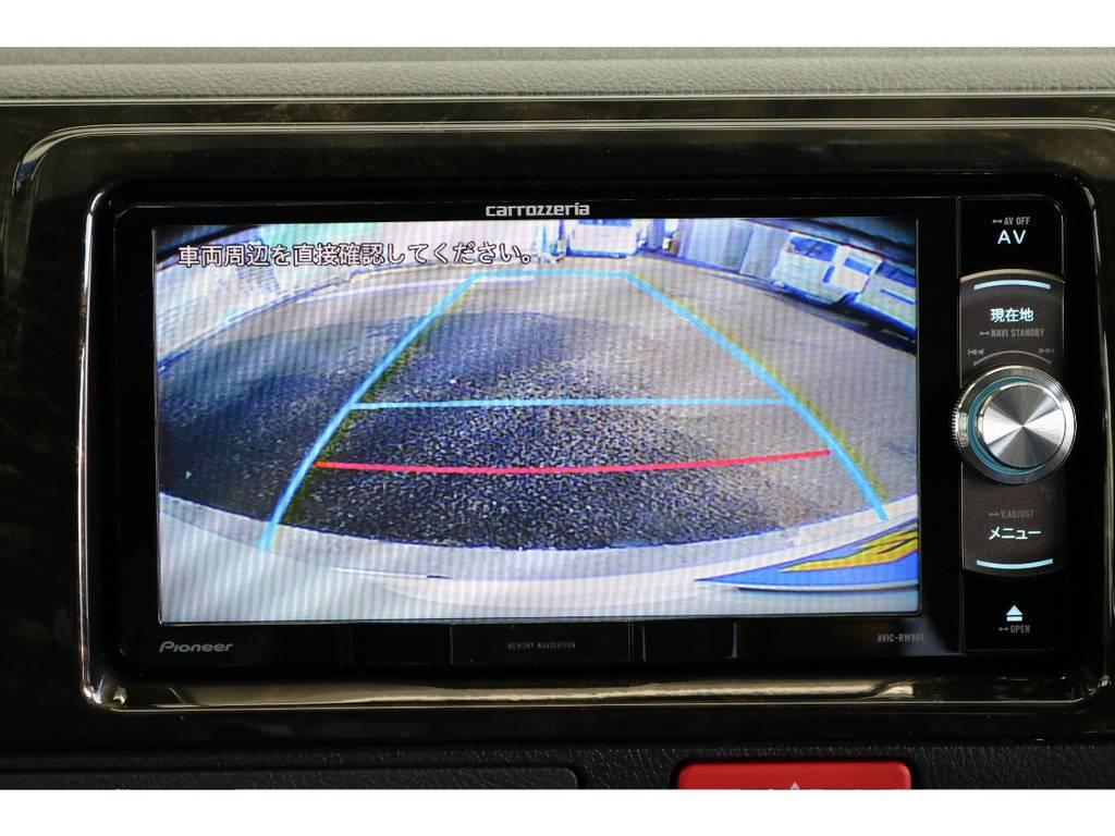 バックガイドもモニター付きで安心ですね!! | トヨタ ハイエースバン 2.8 スーパーGL ダークプライムⅡ ロングボディ ディーゼルターボ PS無
