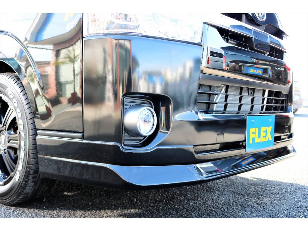 オリジナルリップスポイラー装備! | トヨタ ハイエースバン 2.8 スーパーGL 50TH アニバーサリー リミテッド ロングボディ ディーゼルターボ 50TH