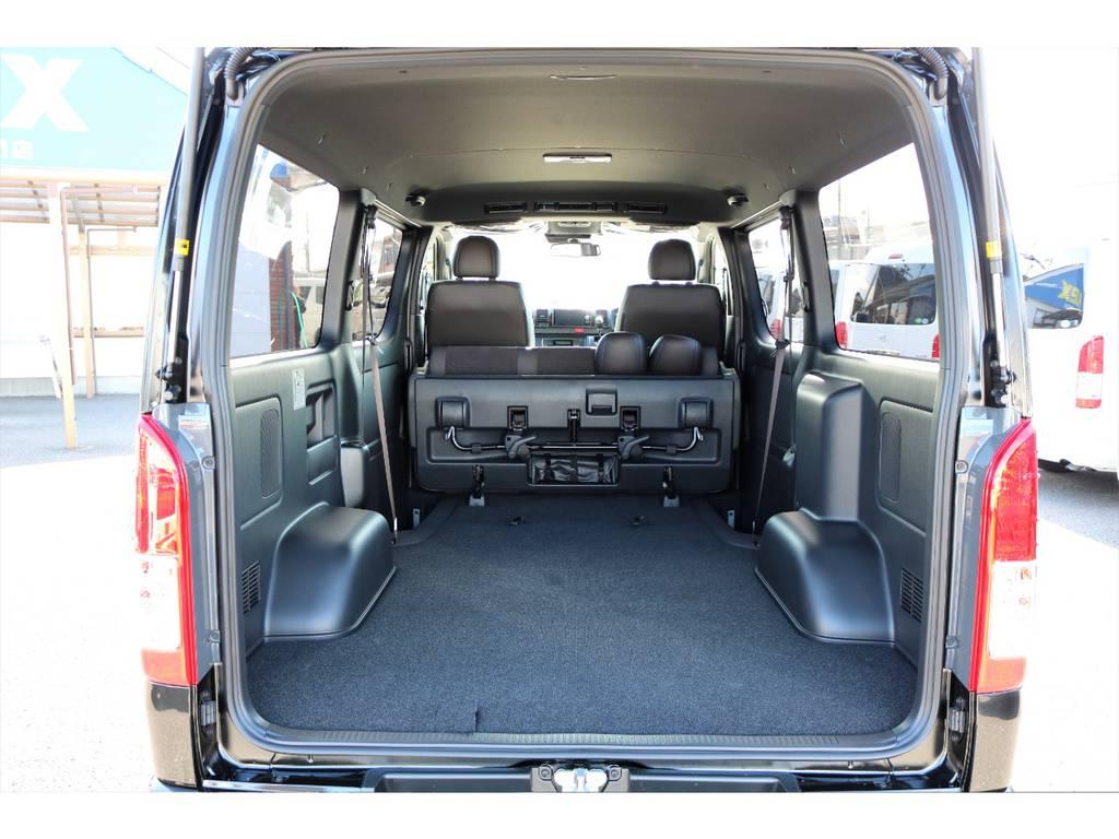 広い荷室は使い勝手良好です!ベットキットもご用命下さい! | トヨタ ハイエースバン 2.8 スーパーGL 50TH アニバーサリー リミテッド ロングボディ ディーゼルターボ 50TH