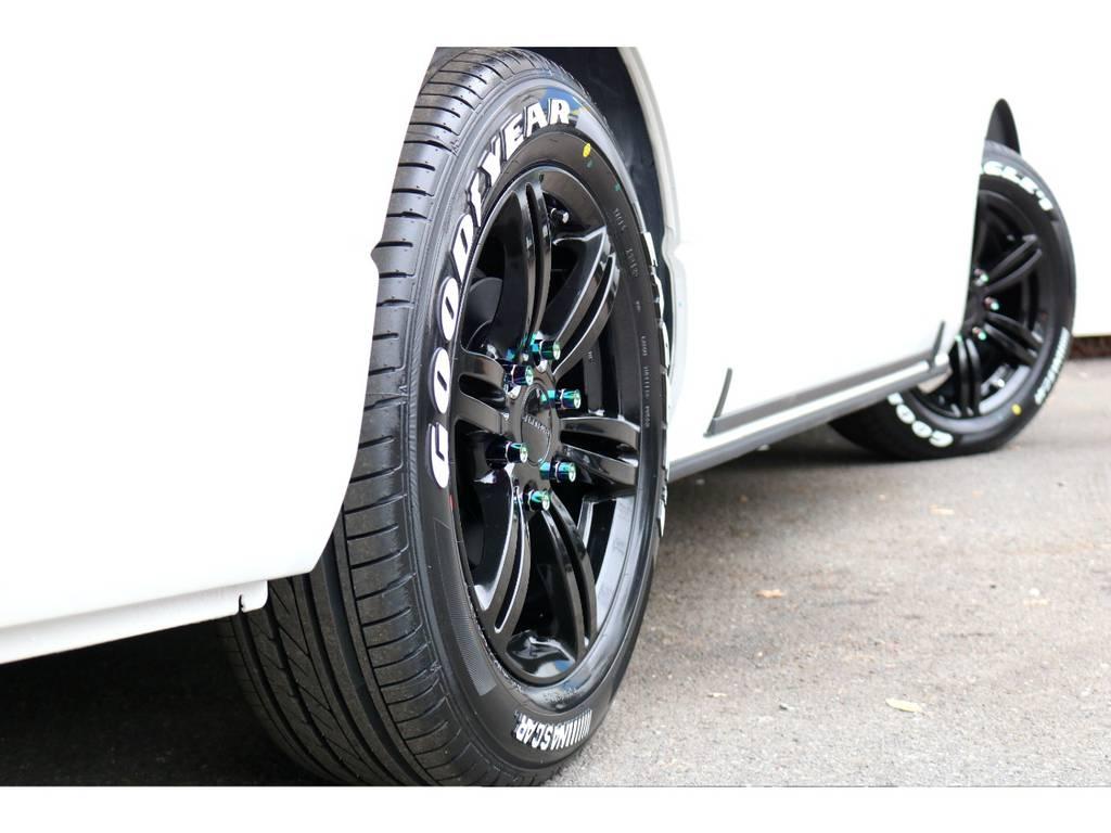 COBRA17インチアルミ!GOODYEARタイヤ! | トヨタ ハイエースバン 2.8 スーパーGL 50TH アニバーサリー リミテッド ロングボディ ディーゼルターボ 4WD 50THフルナビ&ベットPK