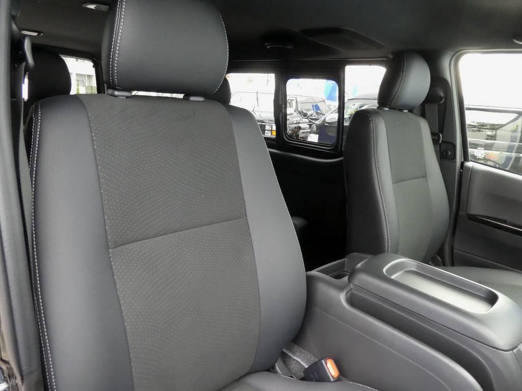 特別仕様車限定ハーフレザーシートは質感が違います!! | トヨタ ハイエースバン 2.8 スーパーGL ダークプライムⅡ ロングボディ ディーゼルターボ 4WD ワイルドフィールド