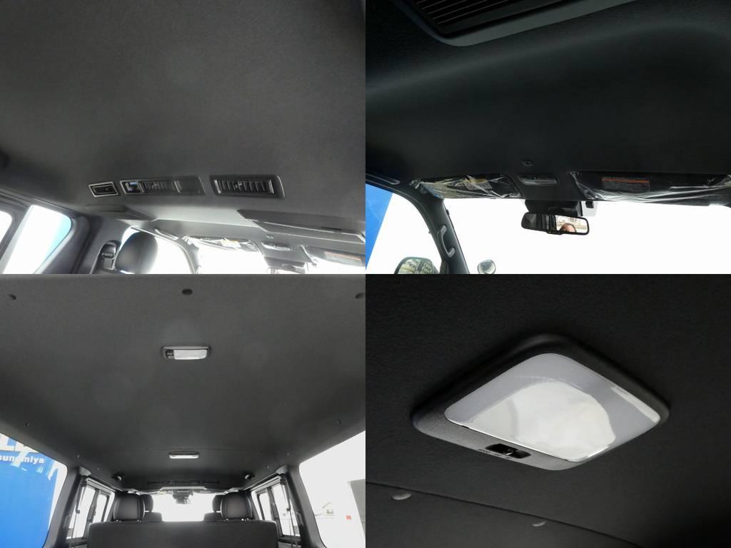 ダークプライムⅡはブラックルーフに合わせてルームランプもブラック基調!! | トヨタ ハイエースバン 2.8 スーパーGL ダークプライムⅡ ロングボディ ディーゼルターボ 4WD ワイルドフィールド