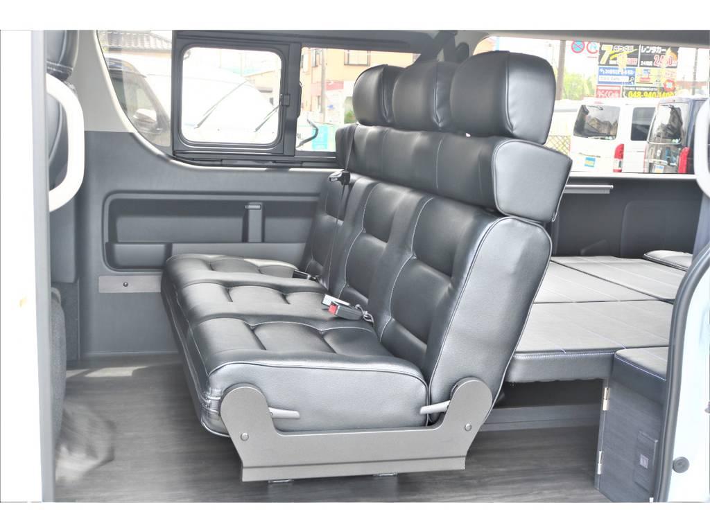 シートアレンジVer2施工済みです! | トヨタ ハイエース 2.7 GL ロング ミドルルーフ 4WD TSS付フレックスVer2内装架装