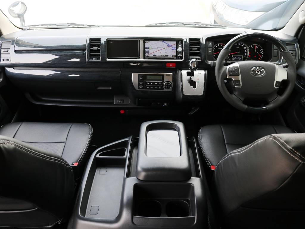 シートカバーやナビやETCが取り付け済みの、カスタム済みハイエースワゴン♪ | トヨタ ハイエース 2.7 GL ロング ミドルルーフ TSS付 内装アレンジR1