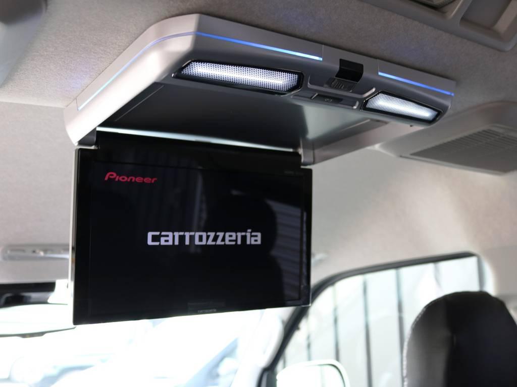 カロッツェリア 11.6型 フリップダウンモニター! | トヨタ ハイエース 2.7 GL ロング ミドルルーフ TSS付 内装アレンジR1