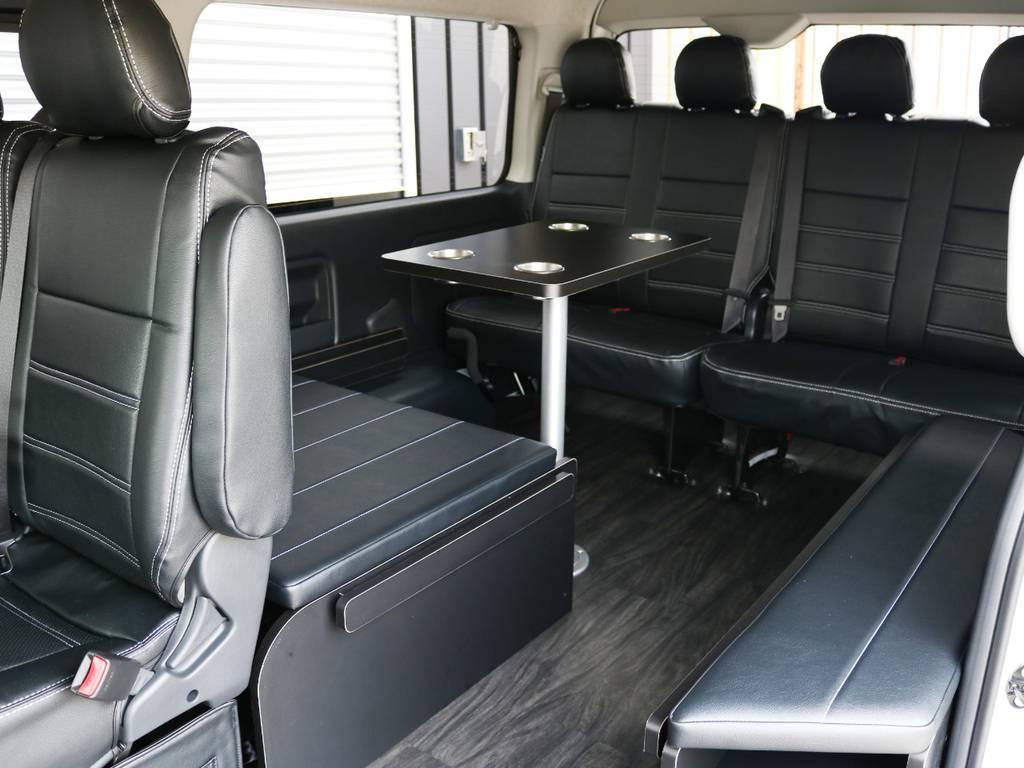 脱着可能なセンターテーブルを完備しております♪ | トヨタ ハイエース 2.7 GL ロング ミドルルーフ TSS付 内装アレンジR1