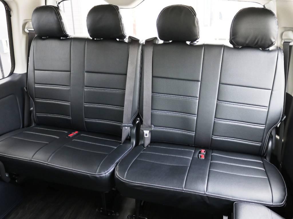 4列目は2人掛けシート×2脚! | トヨタ ハイエース 2.7 GL ロング ミドルルーフ TSS付 内装アレンジR1