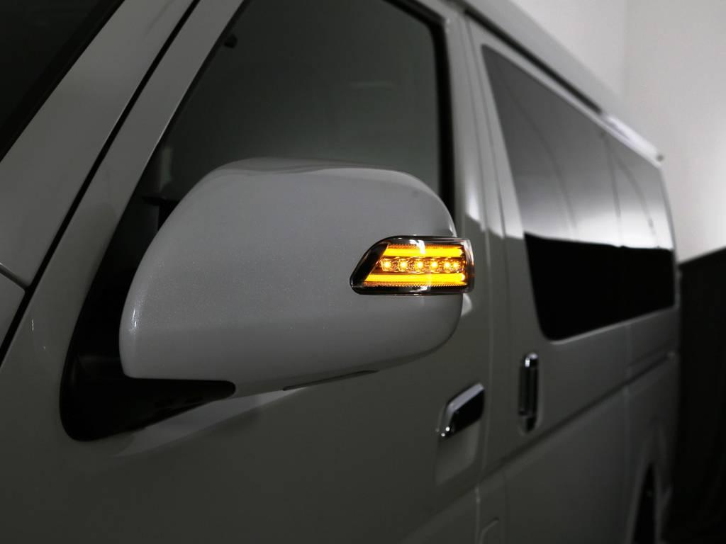 ヴァレンティ LEDウィンカーミラー! | トヨタ ハイエース 2.7 GL ロング ミドルルーフ TSS付 内装アレンジR1