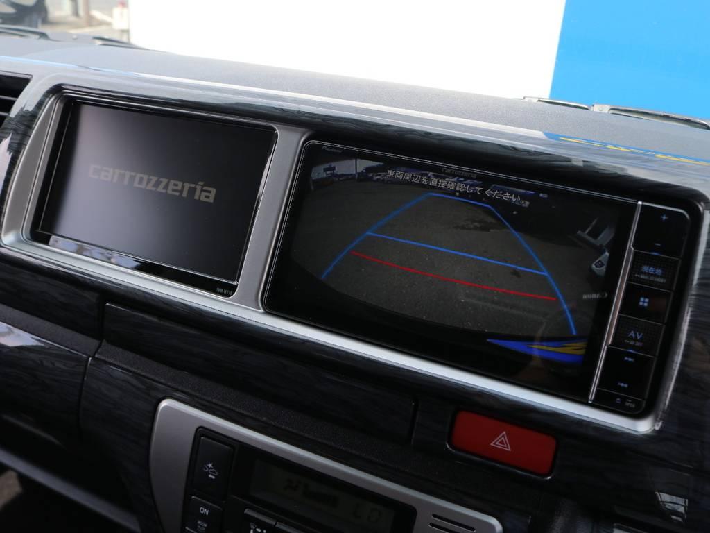 嬉しいサブモニター付き! | トヨタ ハイエース 2.7 GL ロング ミドルルーフ 4WD アレンジR1 トリプルナビ