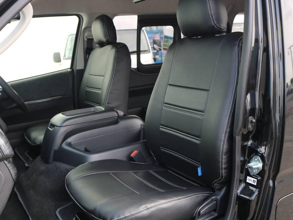 全席シートカバー装着済みです! | トヨタ ハイエース 2.7 GL ロング ミドルルーフ 4WD アレンジR1 トリプルナビ