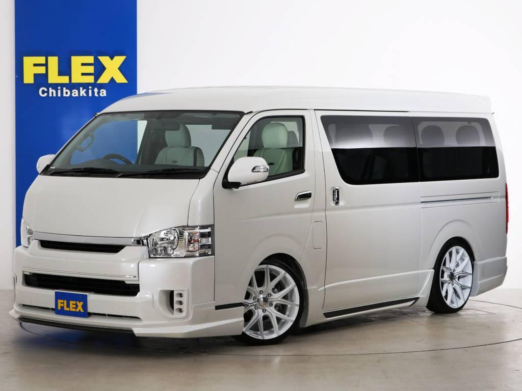 新車未登録 ハイエースワゴンGL 特別架装車【ファインテックツアラー】 WALDフルエアロ!
