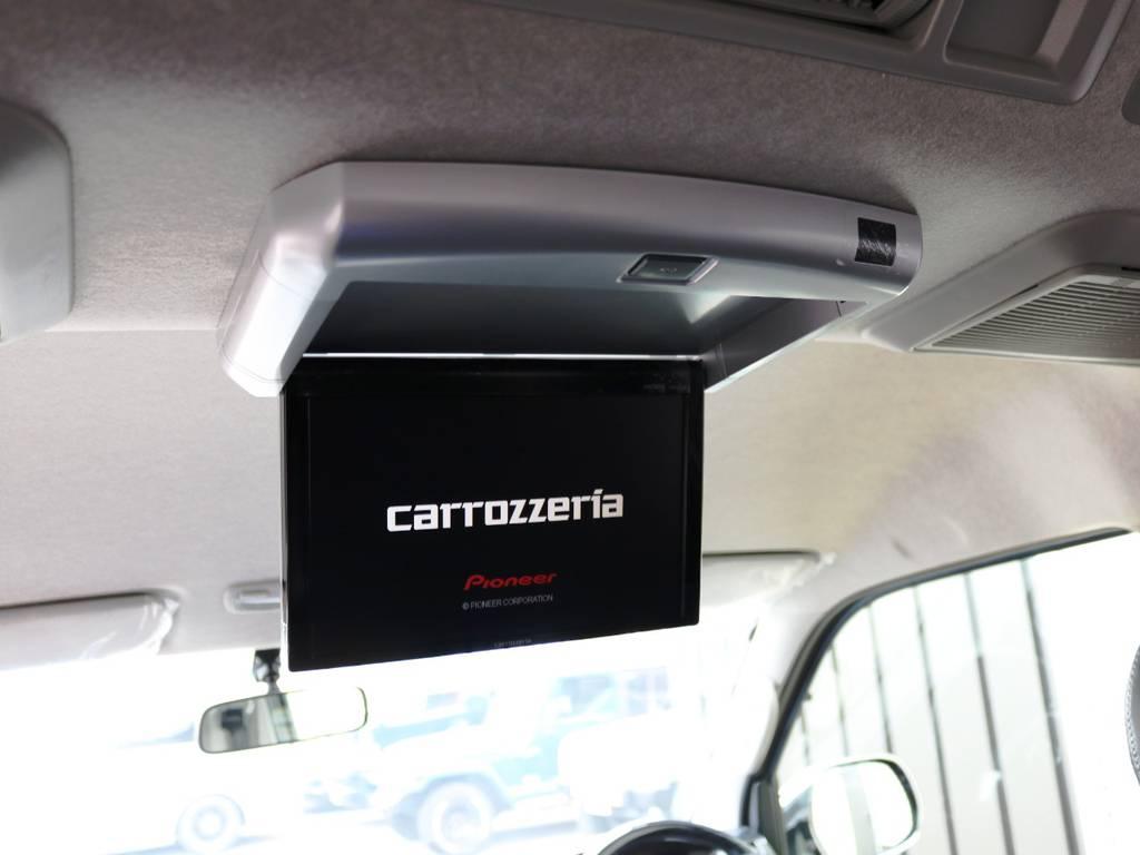 カロッツェリア 10.2型 フリップダウンモニター! | トヨタ ハイエース 2.7 GL ロング ファインテックツアラー