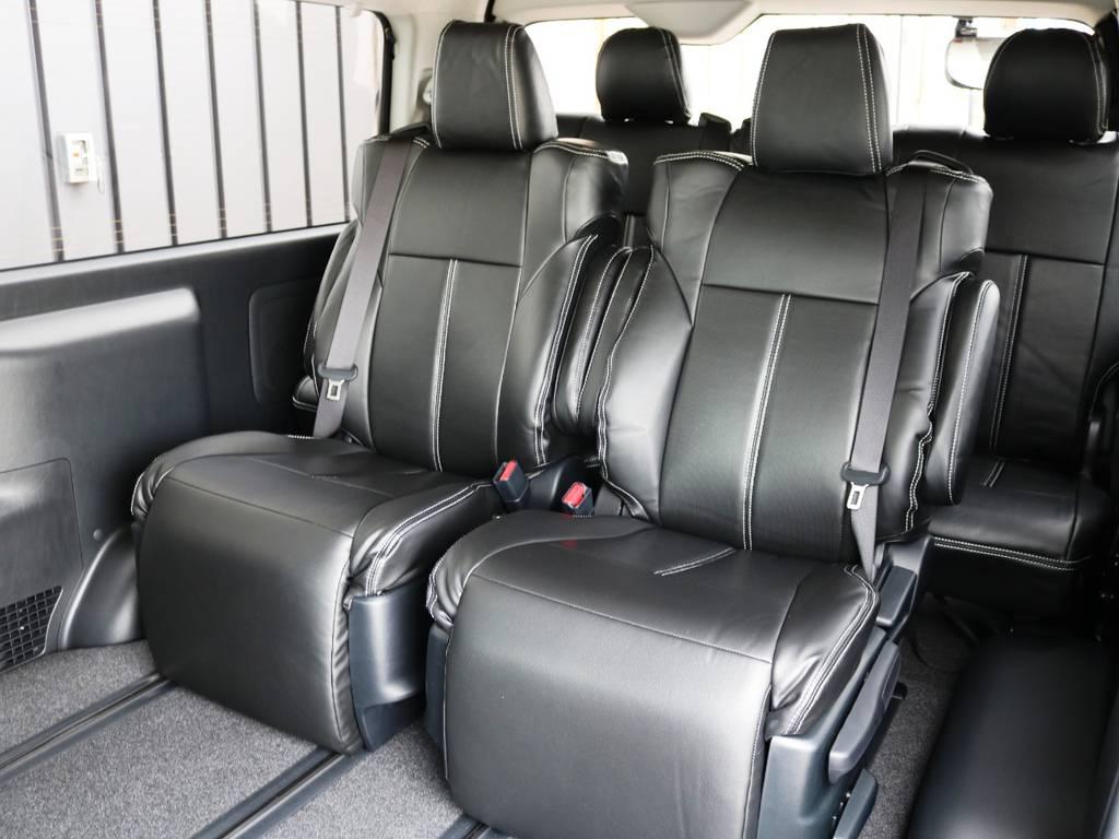 3列目シートもキャプテンシートとなっております!3列目は横スライドの機能がございません。 | トヨタ ハイエース 2.7 GL ロング ファインテックツアラー