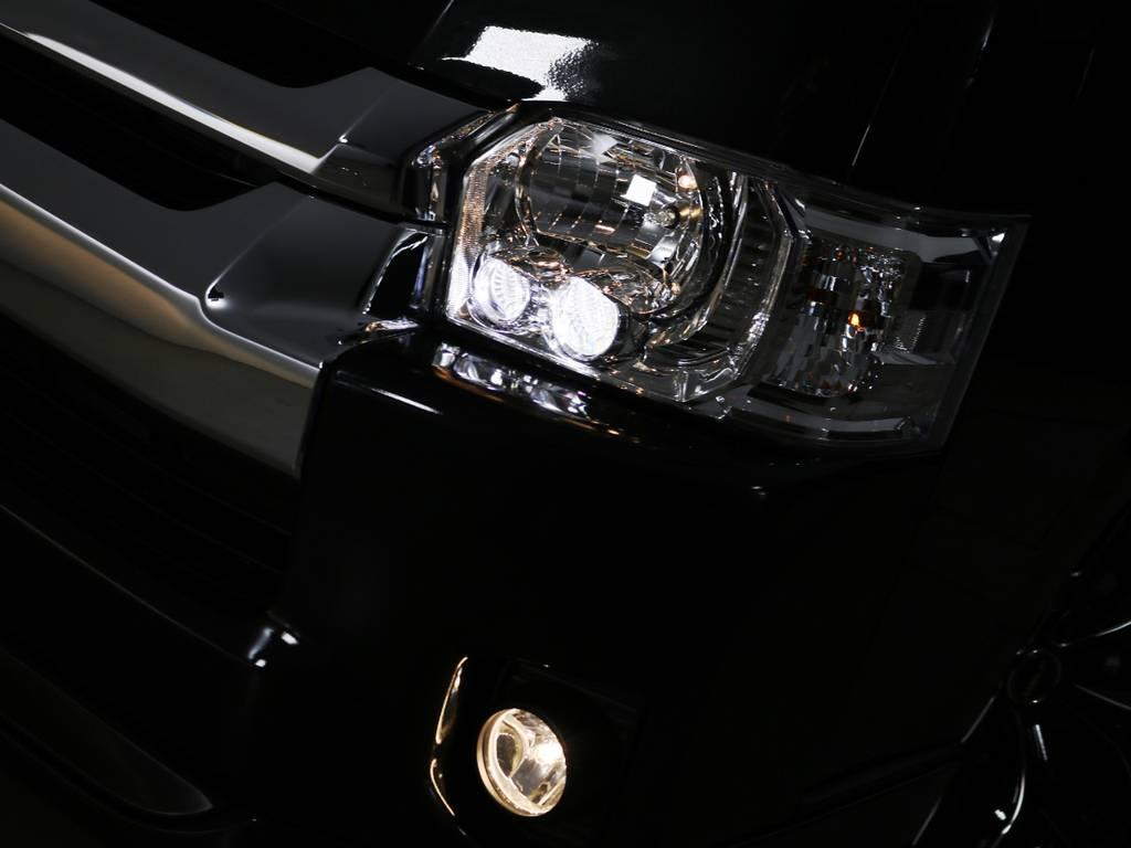 LEDヘッドランプ 標準装備! | トヨタ ハイエース 2.7 GL ロング ファインテックツアラー
