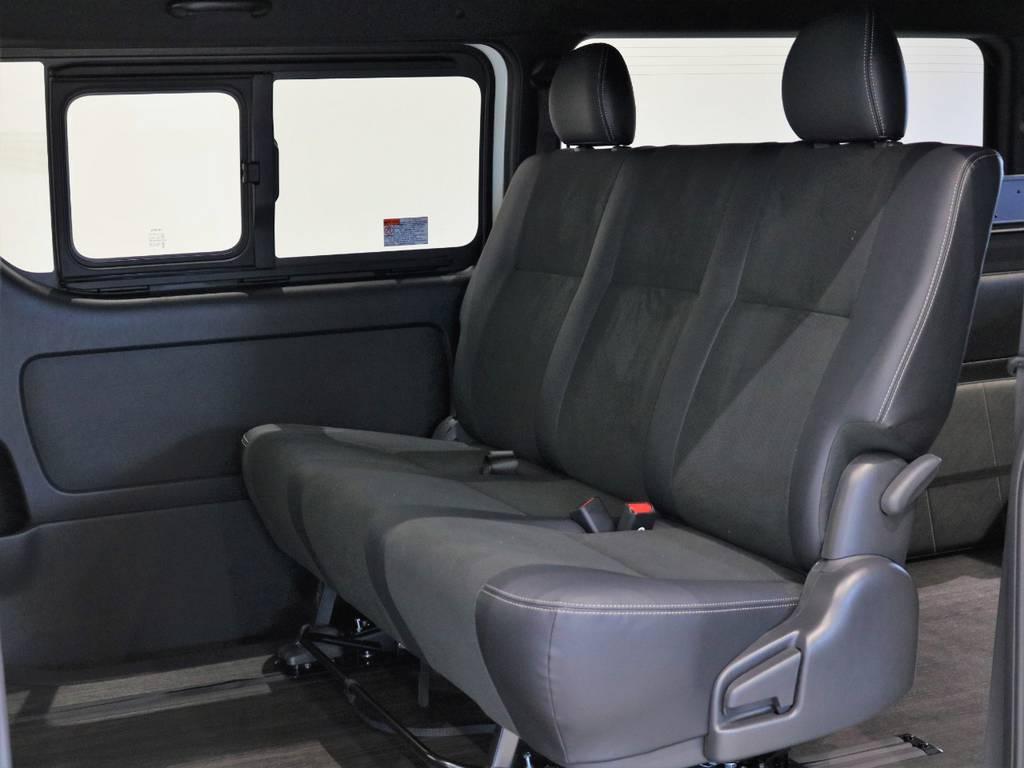シートアレンジも自在です! | トヨタ ハイエースバン 2.7 スーパーGL ダークプライムⅡ ワイド ミドルルーフ ロングボディ 4WD 内装架装アレンジFU-Wスライド