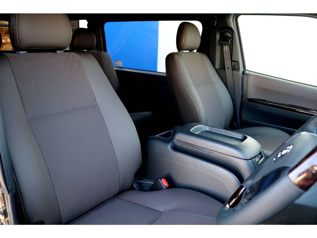専用のハーフレザーシートはデザイン性が高いだけでは無く、撥水性や汚れにも強い設計です♪