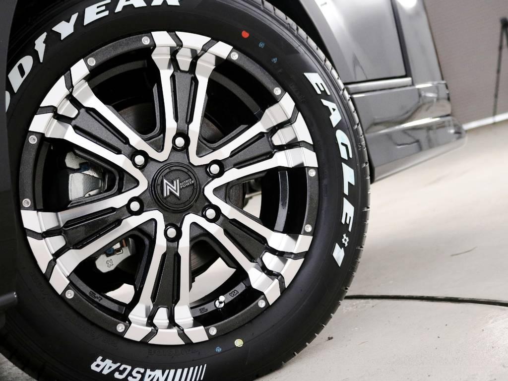 ナイトロパワー クロスクロウ 17インチアルミホイール! | トヨタ ハイエースバン 2.8 DX ワイド スーパーロング ハイルーフ GLパッケージ ディーゼルターボ 4WD 床張りライトカスタム