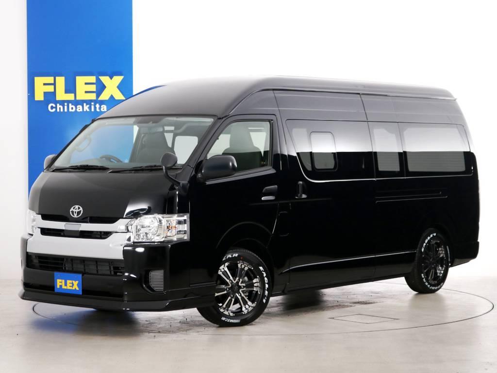 新車未登録 ハイエースバン DX GLパッケージ ワイド スーパーロング 特設ブラックカラー 床張りライトカスタムPKG!