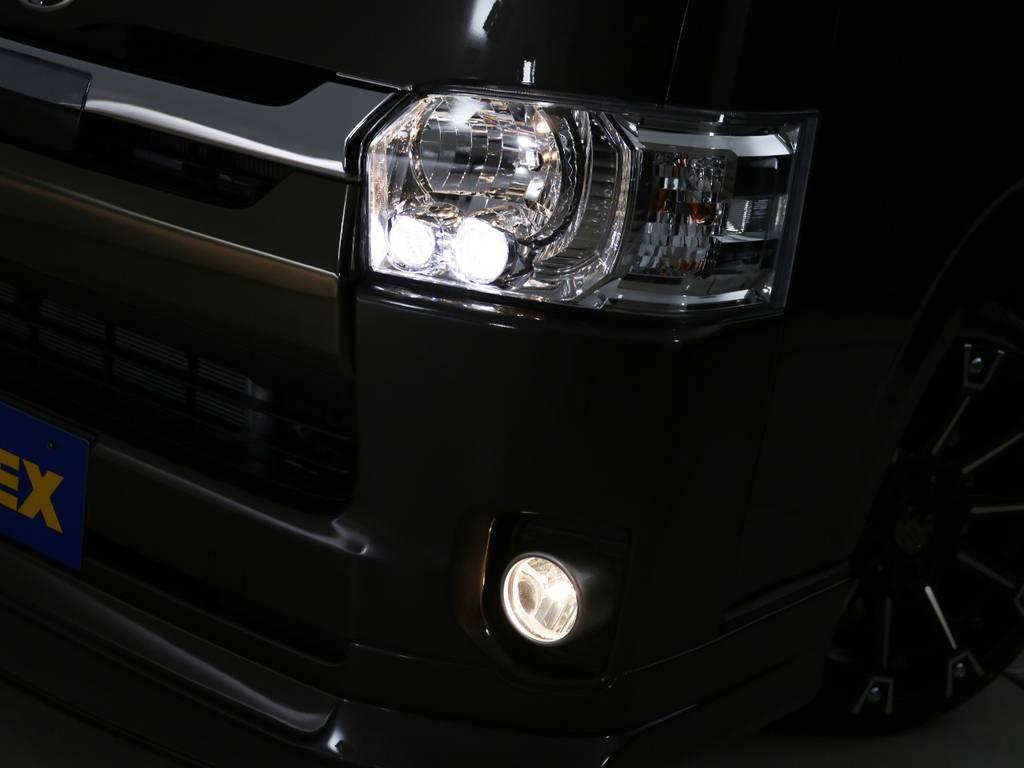 LEDヘッドライト標準装備! | トヨタ ハイエースバン 2.0 スーパーGL 50TH アニバーサリー リミテッド ロングボディ ライトカスタムPKG