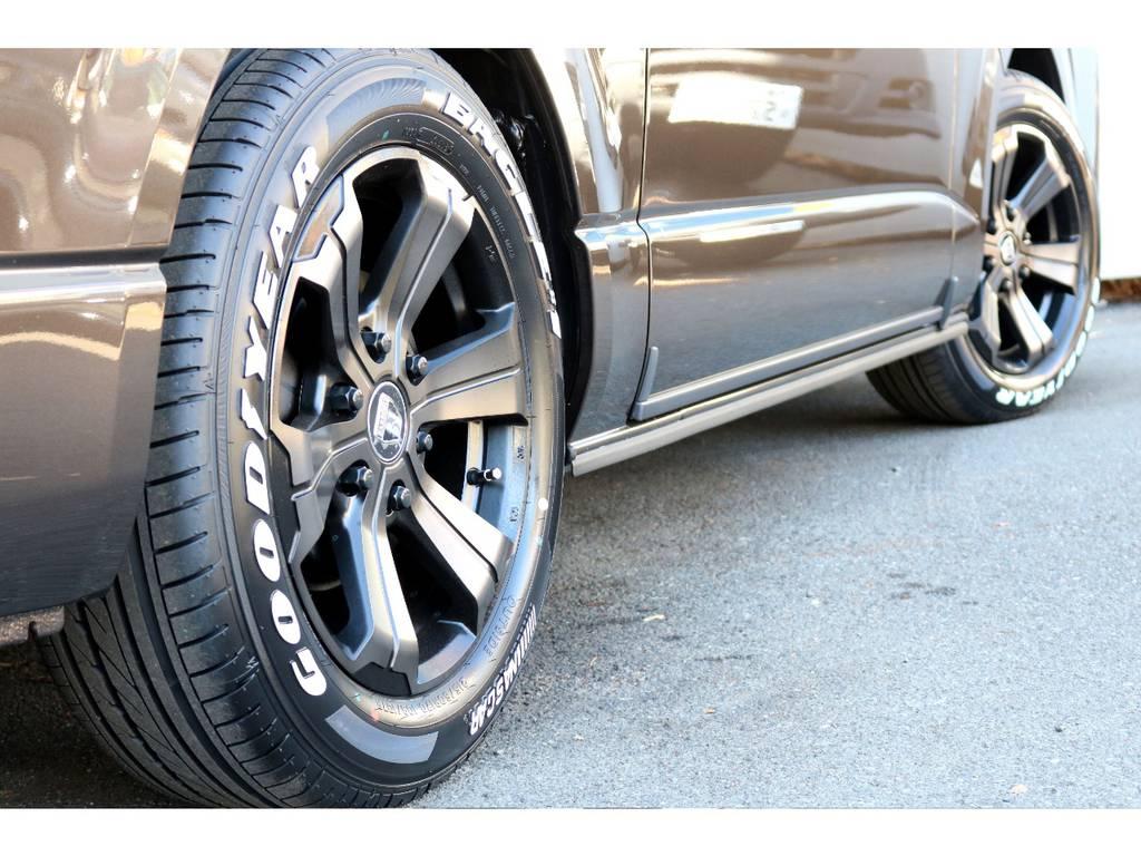 FLEXバルベロ17インチアルミ!GOODYEARタイヤ!   トヨタ ハイエースバン 2.8 スーパーGL 50TH アニバーサリー リミテッド ロングボディ ディーゼルターボ 4WD 50th限定車ナビパッケージ