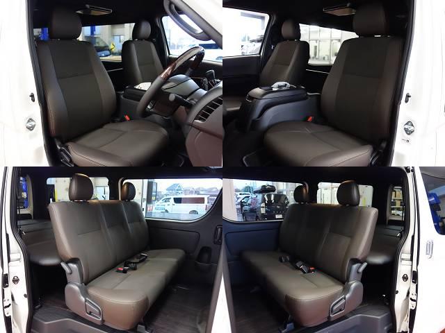 専用シート装着!! | トヨタ ハイエースバン 2.0 スーパーGL 50TH アニバーサリー リミテッド ロングボディ 床張りファミリーパッケージ